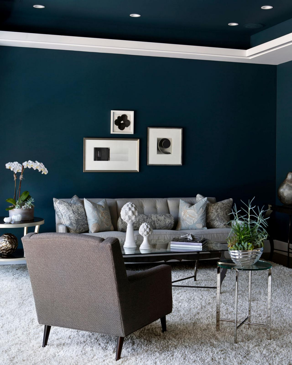 10 Grey Navy Living Rooms To Inspire