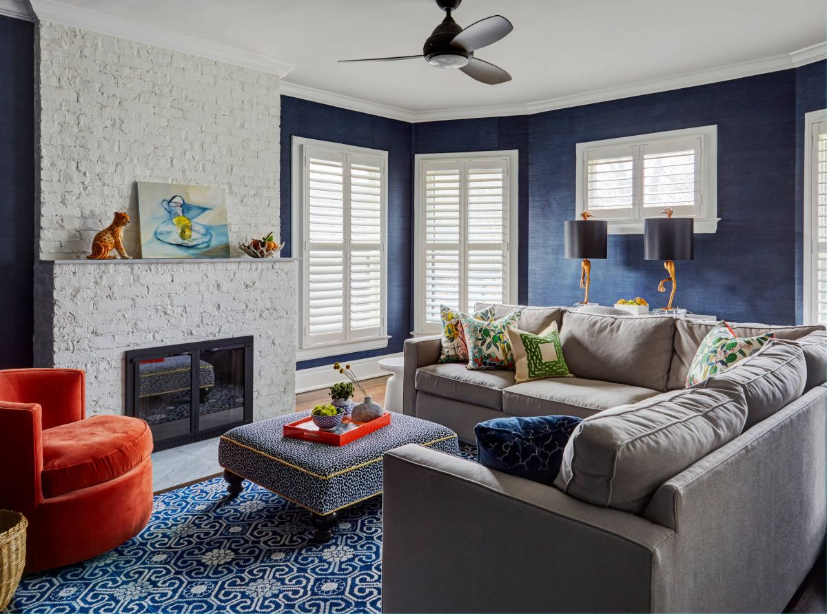 10 Grey & Navy Living Rooms To Inspire Your Next ...