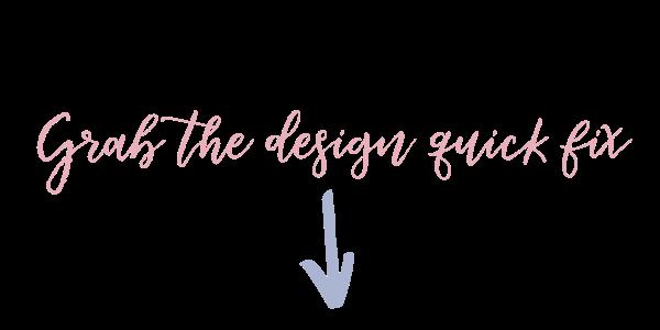 Grab the design quick fix