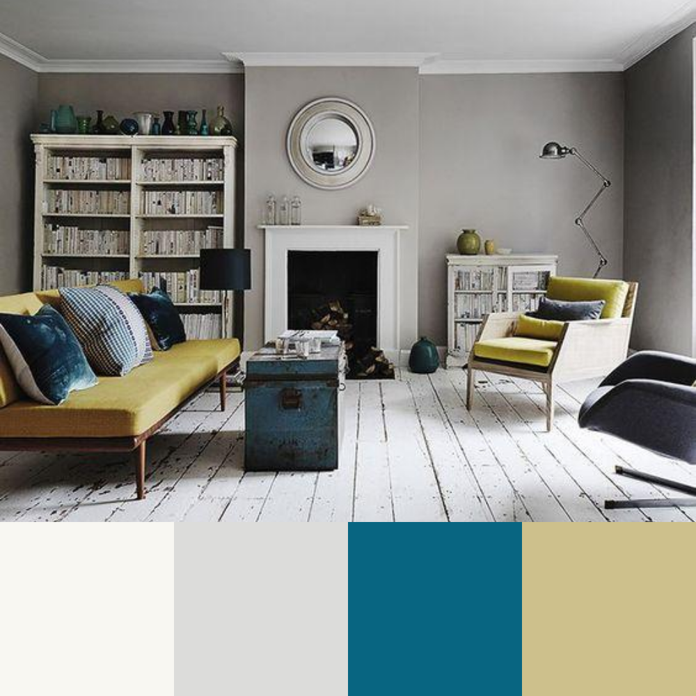 7 Colour Palette Ideas For Your Living Room - Palette 1
