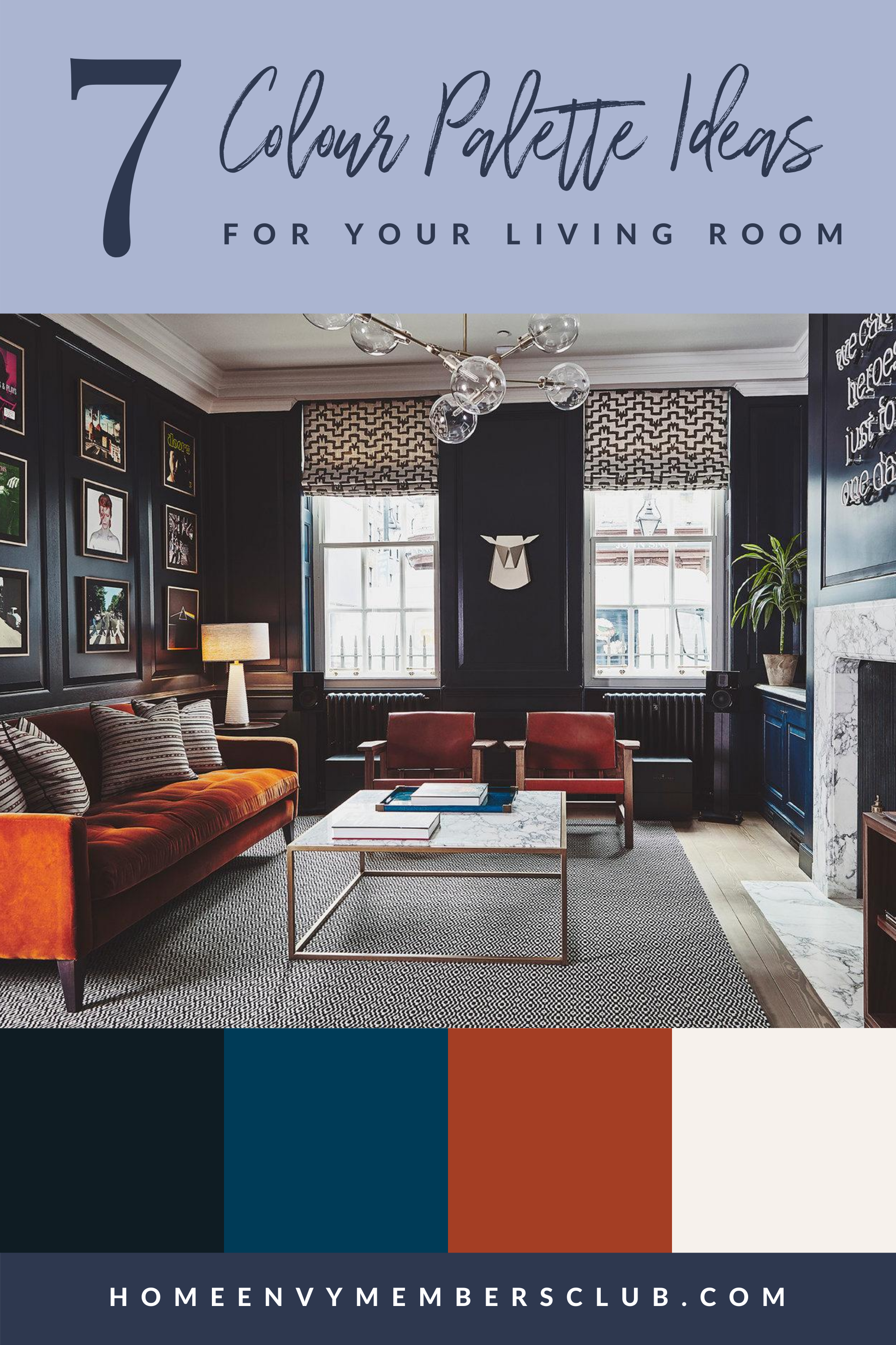 7 Colour Palette Ideas For Your Living Room